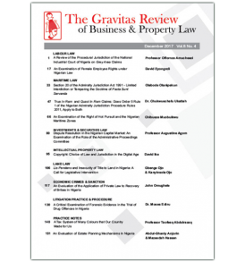 The Gravitas Review of Business & Property Law Vol.8 No.4 December 2017