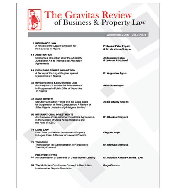 The Gravitas Review December 2015