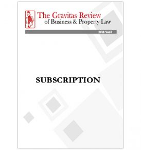 The Gravitas Review of Business & Property Law 2018