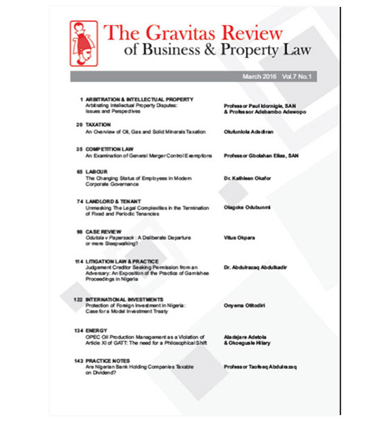 The Gravitas Review March 2016