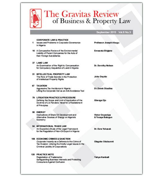 The Gravitas Review September 2015