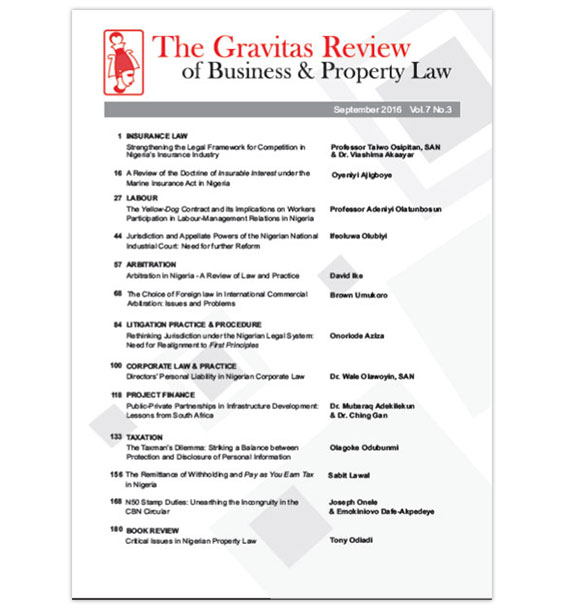 The Gravitas Review September 2016